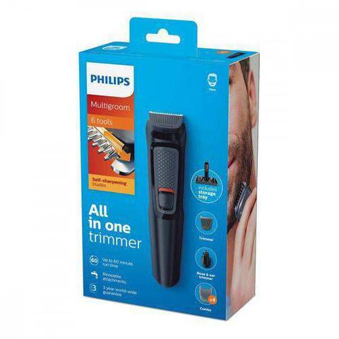 Imagem de Aparador de Pelos Philips 6 em 1 Multigroom MG3711/15
