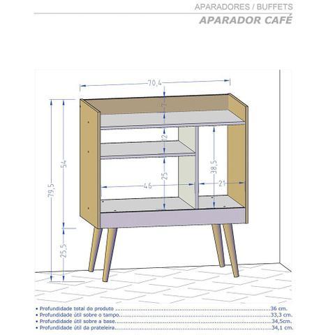 Imagem de Aparador Sala Café Pés Palito