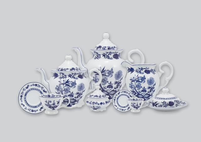 Imagem de Aparelho de Chá e Café Porcelana Schmidt 53 peças - Dec. Cebolinha