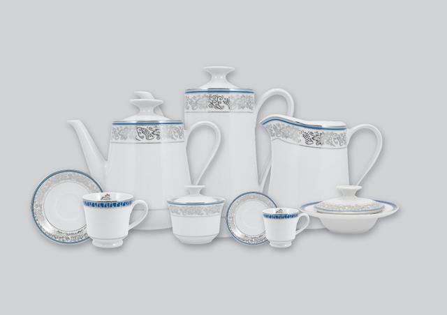 Imagem de Aparelho de Chá e Café Porcelana Schmidt 53 Peças - Dec. Júlia