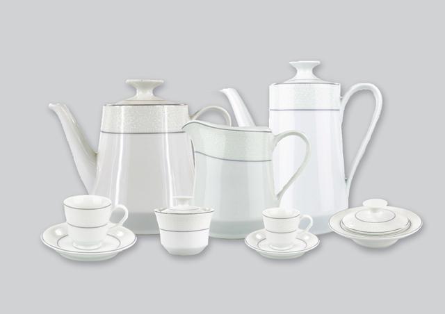 Imagem de Aparelho de Chá e Café Porcelana Schmidt 53 Peças - Dec. Martha