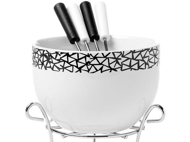 Imagem de Aparelho de Fondue Cerâmica Brinox Branco