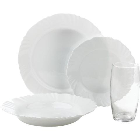 Imagem de Aparelho de Jantar 16 Peças Duralex Pétala com Copos 430ml