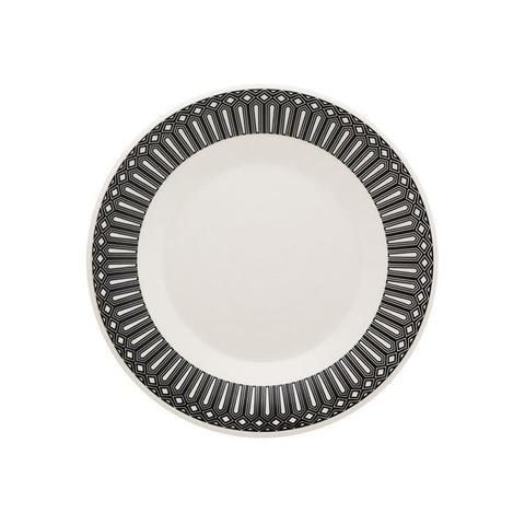Imagem de Aparelho De Jantar 20 Peças Actual Nativa Biona Preto E Branco Oxford