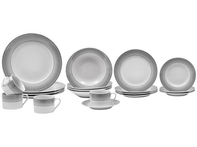 Imagem de Aparelho de Jantar 20 Peças Evolux Porcelana