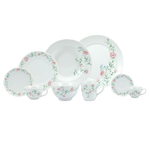 Imagem de Aparelho De Jantar e Chá 30 Peças Porcelana Real - Dec. Teresa