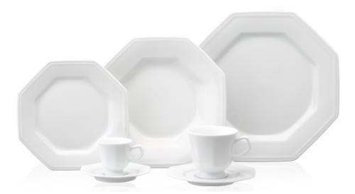 Imagem de Aparelho de Jantar e Chá Porcelana Schmidt 20 peças - Mod. Prisma