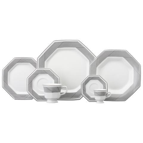Imagem de Aparelho de Jantar e Chá Porcelana Schmidt 30 Peças - Dec. Bauhaus