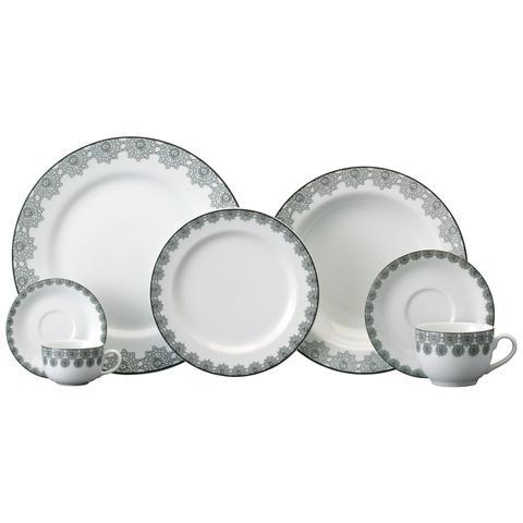 Imagem de Aparelho de Jantar e Chá Porcelana Schmidt 30 Peças - Dec. Taís