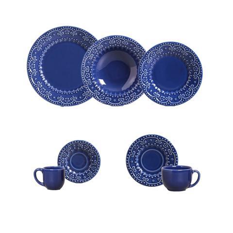Imagem de Aparelho de jantar esparta azul navy 42pcs porto brasil