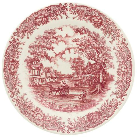 Imagem de Aparelho De Jantar Oxford Vilarejo 20 Peças Cerâmica Vermelho
