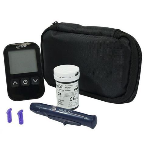 Imagem de Aparelho De Medir Glicose G Tech Free Lite Kit Completo