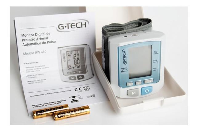 Imagem de Aparelho de Pressão Arterial Digital Pulso G-Tech RW450