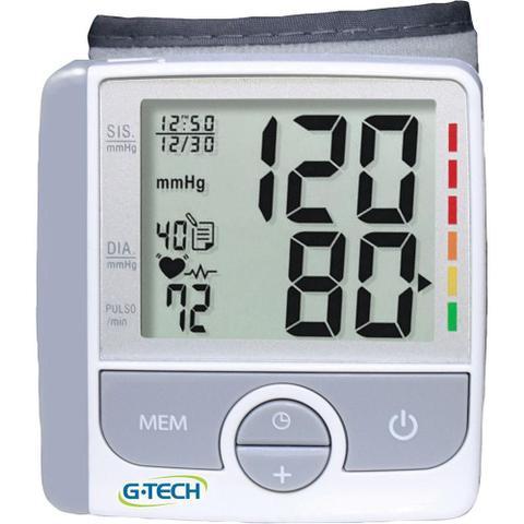 Imagem de Aparelho de Pressão Digital G-Tech Automático Pulso com Detecção de Arritmia GP300