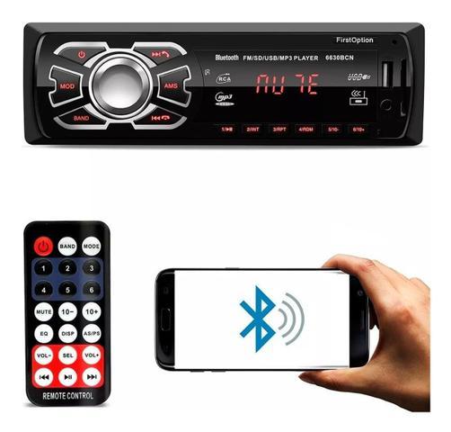 Imagem de Aparelho De Som Carro Automotivo Bluetooth Pendrive Sd Rádio