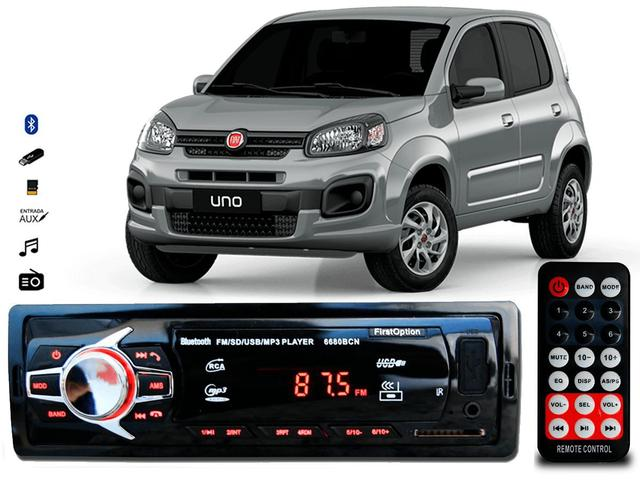 Imagem de Aparelho De Som Mp3 Fiat Uno Novo Bluetooth Pendrive Rádio