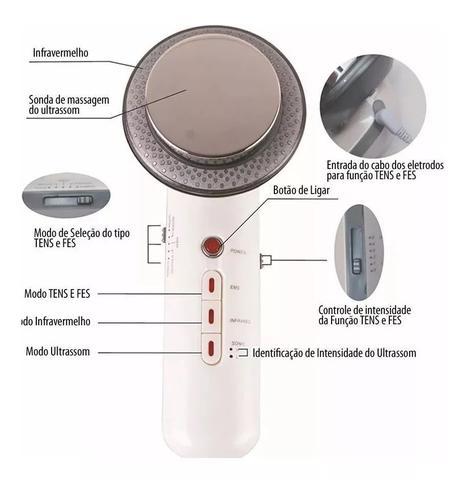 Imagem de Aparelho De Ultrassom 1Mhz Facial E Corporal + Infravermelho + Tens Fisioterapia e Massagem
