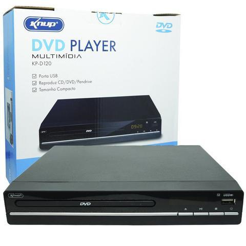 Imagem de Aparelho Dvd Player Rca 2.0 Canais Usb Mp3 Cd Ripping Display Led Controle Knup Preto KP-D120 Bivolt