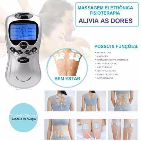 Imagem de Aparelho Fisioterapia Acupuntura Choque Elétrico Tratamento 4 Eletrodos