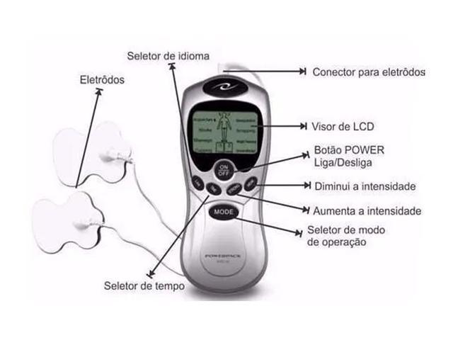 Imagem de Aparelho Fisioterapia Acupuntura Tens & Fes Digital Portátil