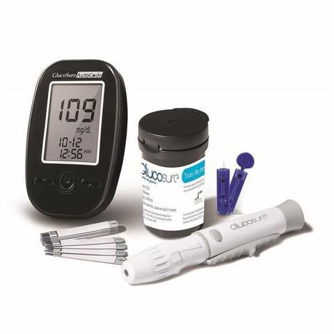 Imagem de Aparelho Glicemia Compacto Diabetes Media Auto + 10 Lancetas