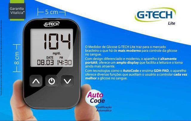 Imagem de Aparelho Medidor De Glicose Glicosimetro Glicemia Gtech - G-Tech