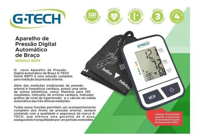 Imagem de Aparelho Medidor De Pressão Arterial Digital G-Tech BSP11