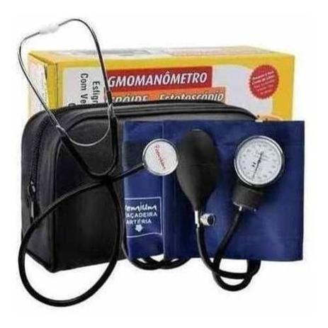 Imagem de Aparelho Medidor De Pressão Arterial Manual Esfigmomanômetro com Estojo
