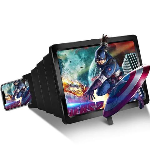 Imagem de Aparelho que transforma seu Celular em tv 3d lente amplia imagem da Tela zoom - Magic box