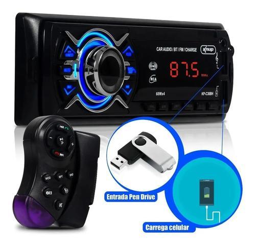 Imagem de Aparelho Som Automotivo Rádio Bluetooth Usb E Leitor Sd AM/FM