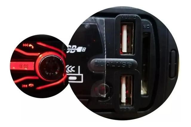 Imagem de Aparelho Som Automotivo Rádio Bluetooth Usb Mp3 Player Envio Imediato