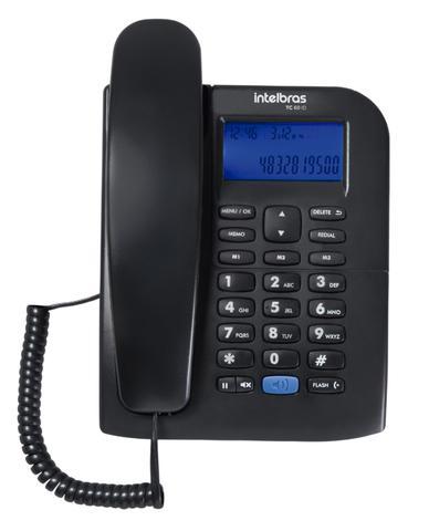Imagem de Aparelho Telefone Fixo Intelbras TC 60 Com Bina E Viva Voz  ID Display luminoso
