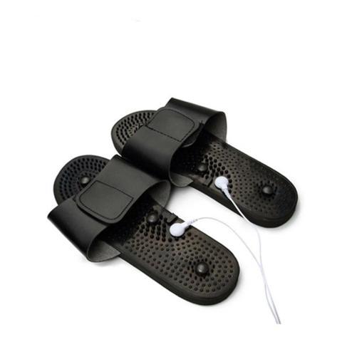 Imagem de Aparelho tens digital fisioterapia chinelo massageador choquinho eletroestimulador tonificador