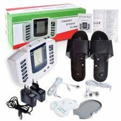 Imagem de Aparelho tens digital fisioterapia massagem chinelo massageador eletroestimulador tonificador