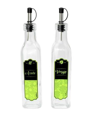Imagem de Aplicador Dosador de Temperos Vidro 2 Unidades Vinagre Azeite
