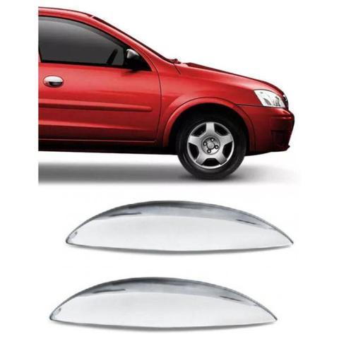 Imagem de Aplique Cromado Capa Maçaneta Corsa Meriva Montana 2 Portas GM Chevrolet