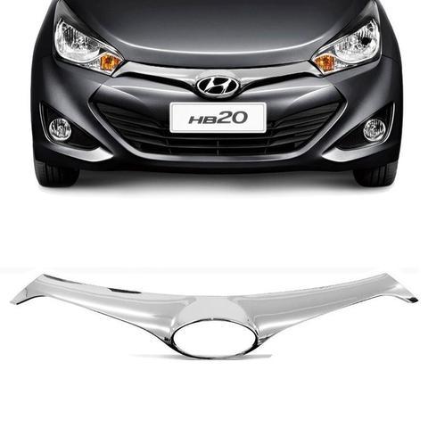 Imagem de Aplique Cromado  da Grade Frontal Hyundai Hb20 2013 a 2015