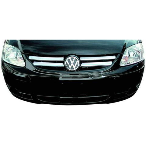 Imagem de Aplique Cromado Grade Dianteira Friso Fox 2003 2007 Volkswagen