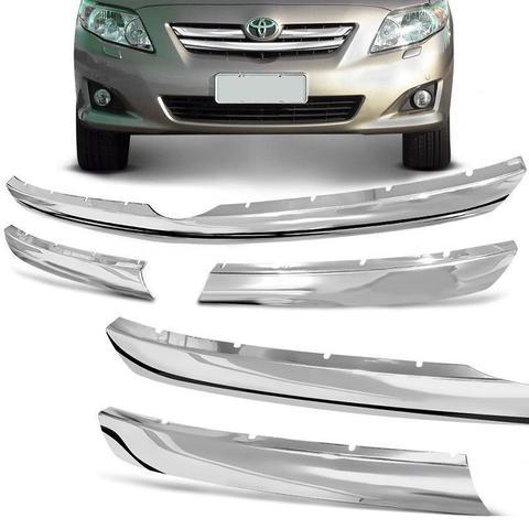 Imagem de Aplique da Grade Frontal Toyota Corolla 2008 a 2011 Cromado