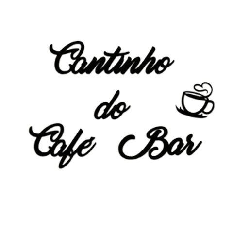 Imagem de Aplique De Parede Frase Cantinho Do Cafe Bar Mdf Preto Fosco Letras Palavras Decoratovas Cozinha Casa