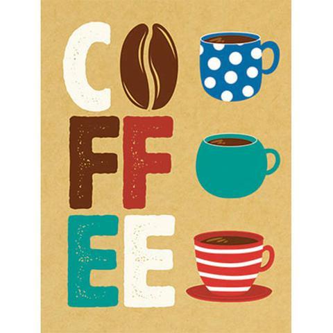 Imagem de Aplique Decoupage Litoarte APM8-1124 em Papel e MDF 8cm Coffee