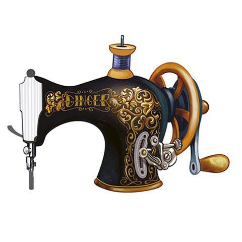 Imagem de Aplique Decoupage Litoarte APM8-530 em Papel e MDF 8cm Máquina de Costura
