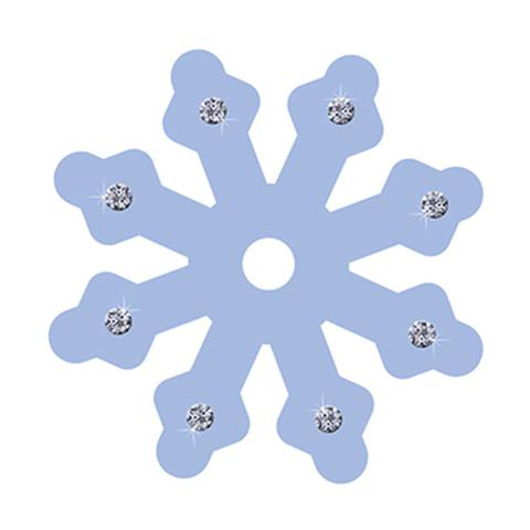 Imagem de Aplique Decoupage Litoarte APM8-593 em Papel e MDF Floco de Neve Lilás