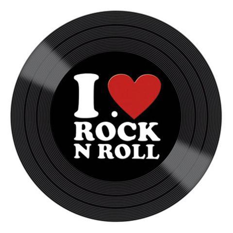 Imagem de Aplique Decoupage Litocart LMAPC-412 em Papel e MDF 10cm Disco Vinil I Love Rock N Roll