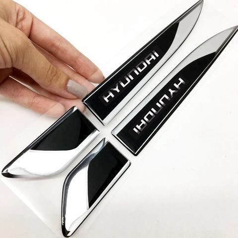 Imagem de Aplique Lateral Hyundai Hb20 I30 Creta Adesivo Resinado Par