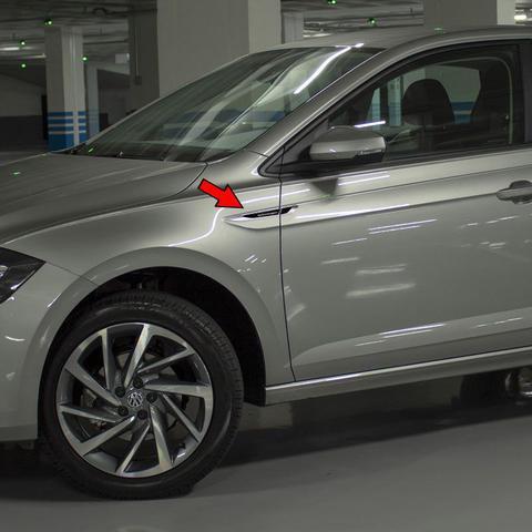 Imagem de Aplique Lateral Volkswagen Gol Polo Up! Fox Emblema Cromado