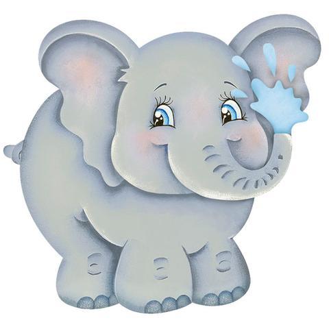 Imagem de Aplique MDF e Papel Litoarte 8 cm - Modelo APM8-812 Elefante