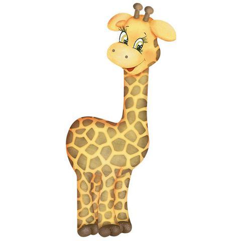 Imagem de Aplique MDF e Papel Litoarte 8 cm - Modelo APM8-813 Girafa