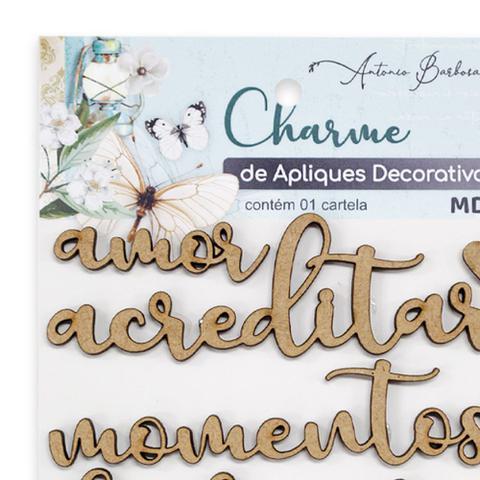 Imagem de Apliques Decorativos Em MDF Charme Antonio Barbosa Palavras 8 unidades  200314