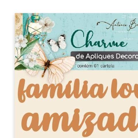 Imagem de Apliques Decorativos Em MDF Charme Antonio Barbosa Palavras II - 7 unidades  200546